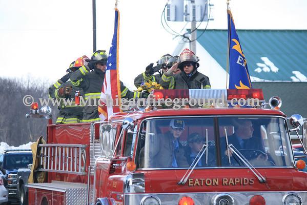 2/26/14 - Eaton Rapids Firefighter Jimmy Locke funeral service