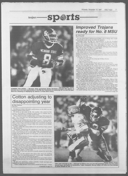 Daily Trojan, Vol. 105, No. 67, December 10, 1987