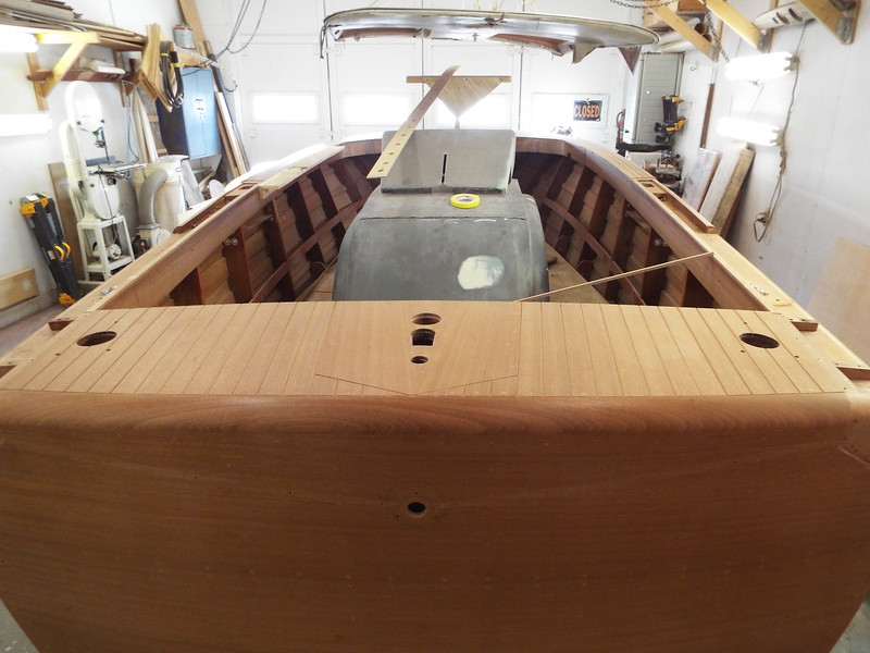 Routing of the rear deck seams completed.