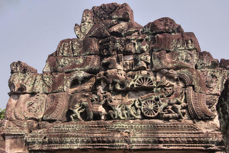 Preah Khan - Pediment carvings - Angkor Archaeological Park