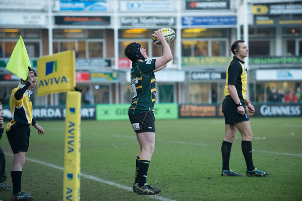 Northampton Saints U18's vs Newcastle Falcons U18's, Franklin's Gardens, 2 March 2013