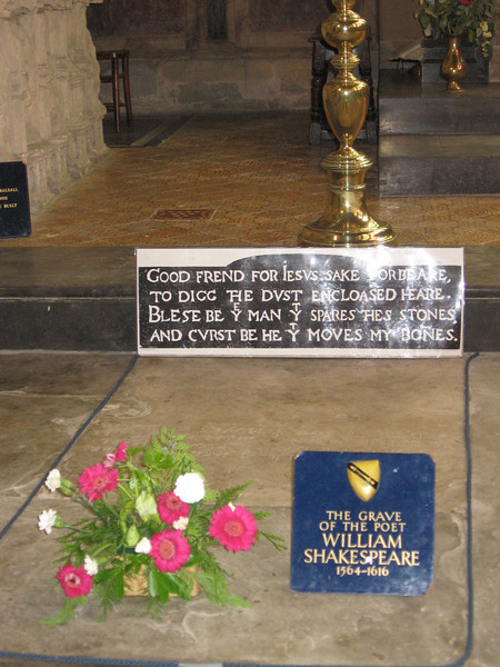 The grave of William Shakespeare, Holy Trinity Church, Stratford-upon-Avon