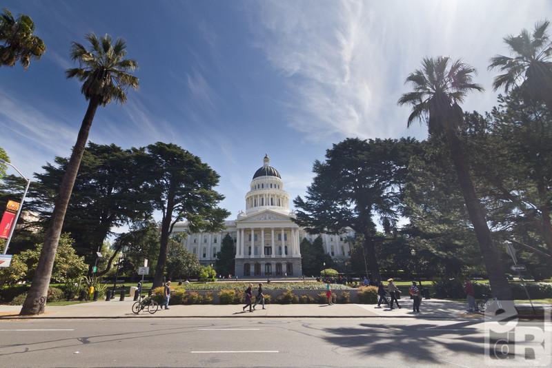The Capitol building in Sacramento, California