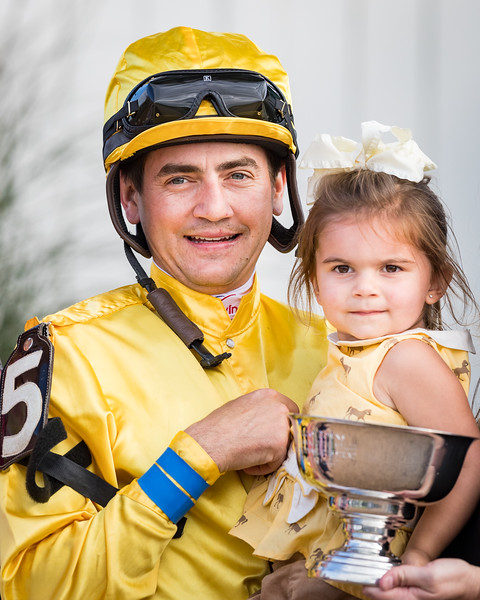 Brian Hernandez and daughter at Ky. Downs 9.09.17.