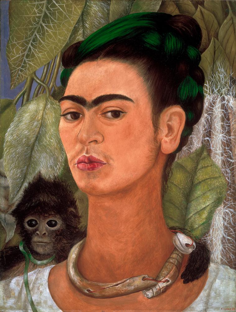 . Frida KahloFrida, Self Portrait with Monkey, property of the Albright-Knox Art Gallery, Buffalo, NY.