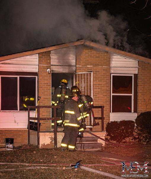 Detroit MI, House Fire 1-24-2021