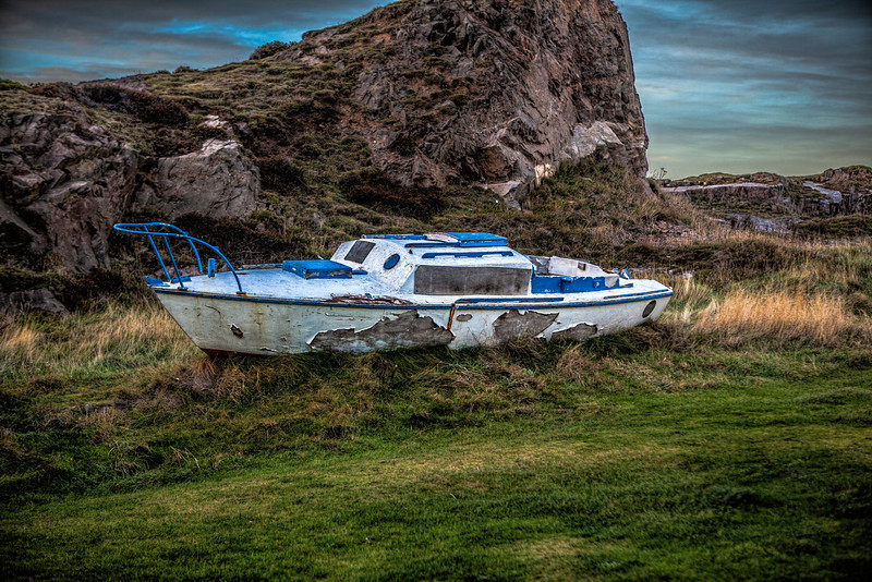 Boat at Findochty, not sure it is seaworthy.