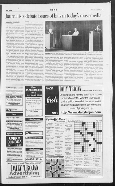 Daily Trojan, Vol. 157, No. 20, February 08, 2006