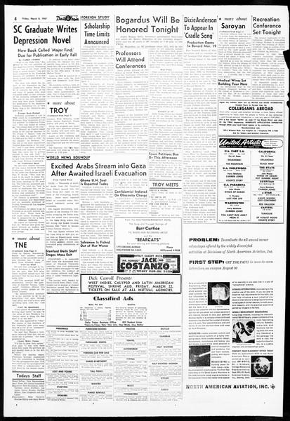 Daily Trojan, Vol. 48, No. 89, March 08, 1957
