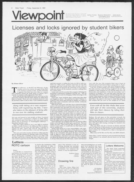 Daily Trojan, Vol. 100, No. 4, September 06, 1985
