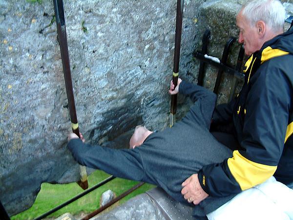 Blarney - Alex kissing the Blarney Stone