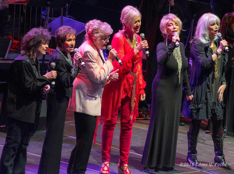 """ If My Heart Had Windows"" ,  ""Tender Years"" and ""I'm Not Ready Yet""  by  Emmylou Harris, Jeannie Seely, Janie Fricke, Jeanne Pruett, Jan Howard and Leona Williams"