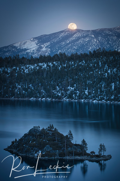 Full Moon Over Heavenly Valley and Emerald Bay