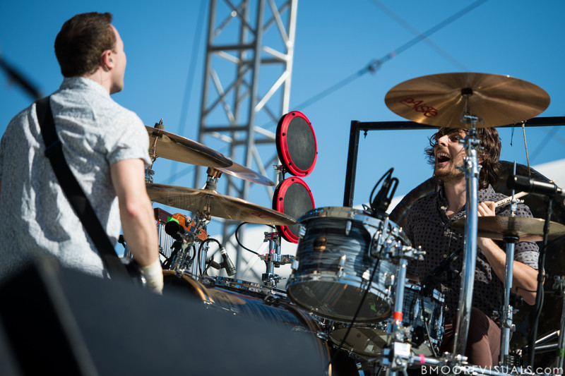 Rhydian Dafydd and Matt Thomas of The Joy Formidable perform on December 1, 2012 during 97X Next Big Thing at Vinoy Park in St. Petersburg, Florida