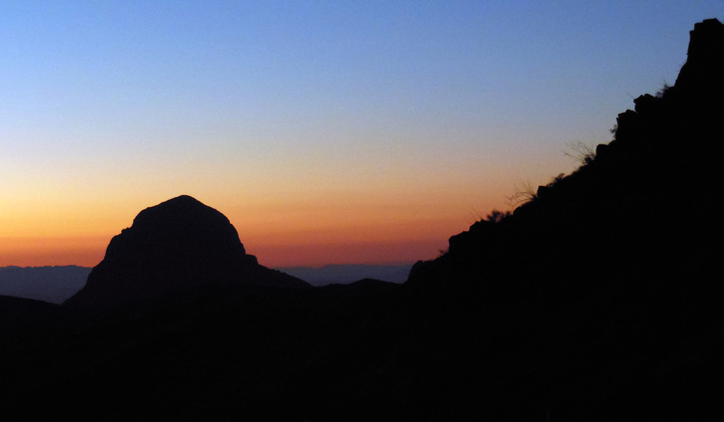 Sunrise from our last camp.