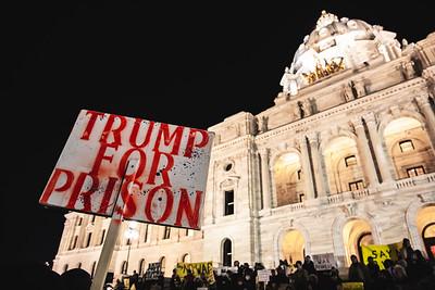 No War on Iran Rally, Minnesota State Capitol, January 9