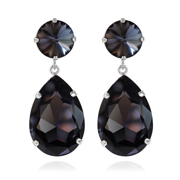 Perfect Drop Earrings / Graphite Rhodium