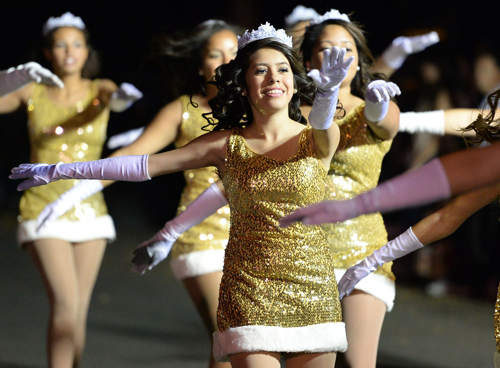 . The 60th annual Daisy Avenue Parade in the Wrigley neighborhood Saturday, December 13, 2013, in Long Beach, CA.   Wilson High School Bruinettes. Photo by Steve McCrank/DailyBreeze