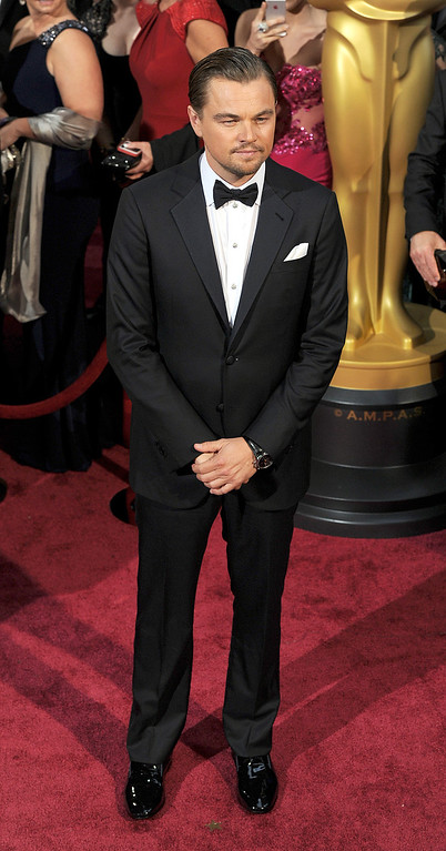 . Leonardo DiCaprio attend the 86th Academy Awards at the Dolby Theatre in Hollywood, California on Sunday March 2, 2014 (Photo by John McCoy / Los Angeles Daily News)