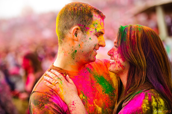 Engagements at Festival of Colors - Caroline and Will