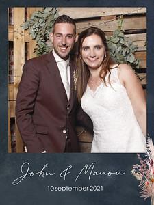 Bruiloft John en Manon