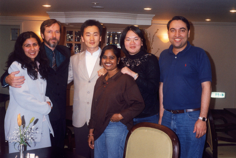 St Clair, Uma Devi, Gitanjali Talwar and Chen Chonmin - all friends from APNIC meeting held in Seoul, South Korea.
