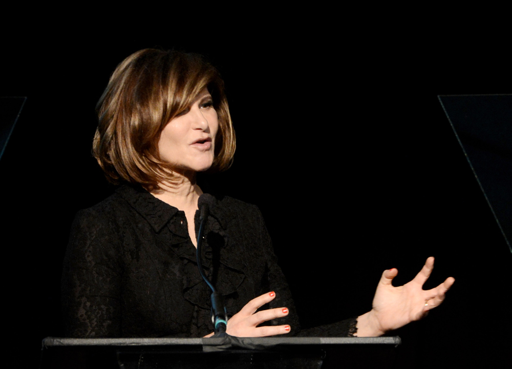 """. Honoree Amy Pascal, Co-chairman, Sony Pictures Entertainment speaks at \""""An Evening\"""" benifiting The Gay & Lesbian Center at the Beverly Wilshire Hotel on March 21, 2013 in Beverly Hills, California.  (Photo by Kevin Winter/Getty Images)"""