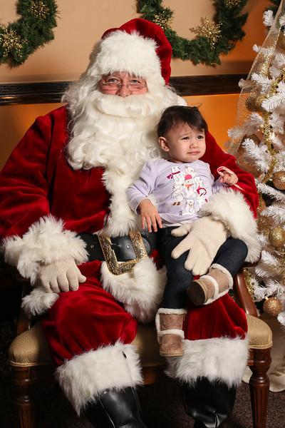 Jemma with Santa!