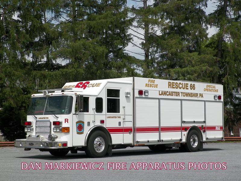 LANCASTER TWP. FIRE DEPT. RESCUE 66 2006 PIERCE HEAVY RESCUE