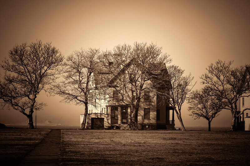 Officers Row House, Sandy Hook - Sepia