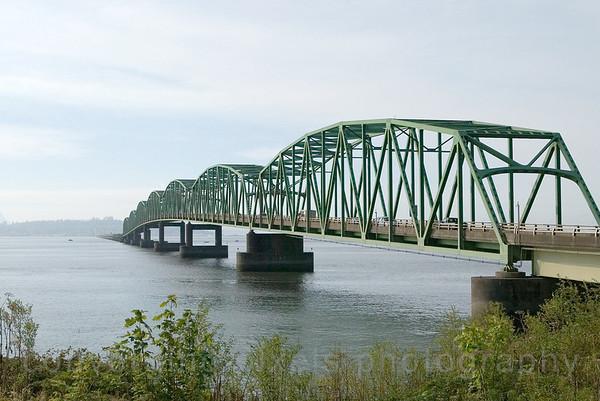 """Astoria Bridge"" between Oregon and Washington."
