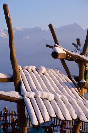 Entrance to local bar, Gubalowka Hill, Zakopane, Tatra Mountains, Podhale Region, Poland