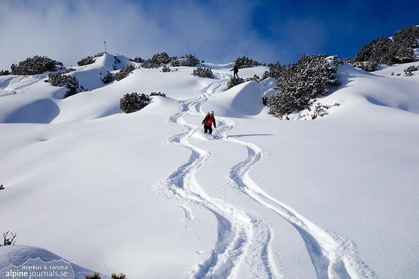 Toreck ski tour, Kleinwalsertal 2014-01-25