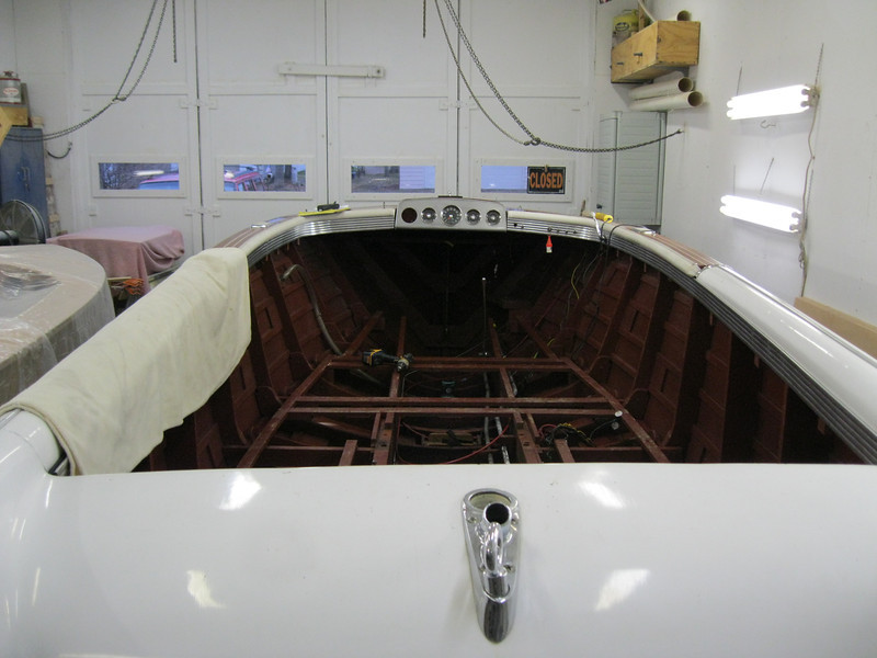 Interior removed, including the windshield.