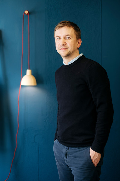 Tobias Hilbert from Arno Wolf design in his office in Basel, Switzerland.