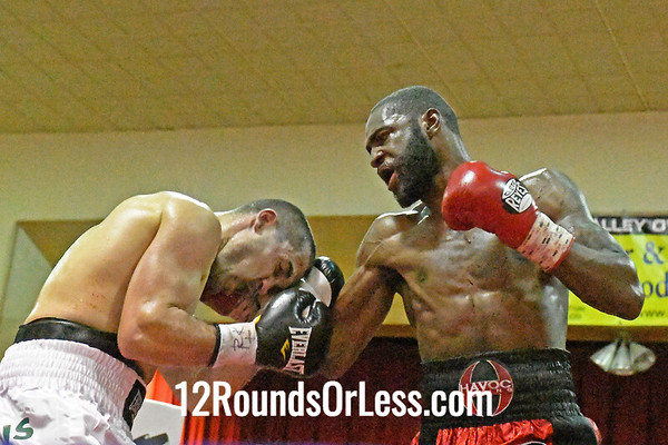 """Bout #6:   Jake """"The Bull""""Giuriceo, Youngstown, OH   vs   Evincii """"Prize Fighter"""" Dixon, Lancaster, PA   -   145 Pounds1,"""