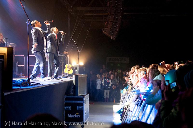 26.3.2011: Konsert på Nordkraft Arena med Madcon.
