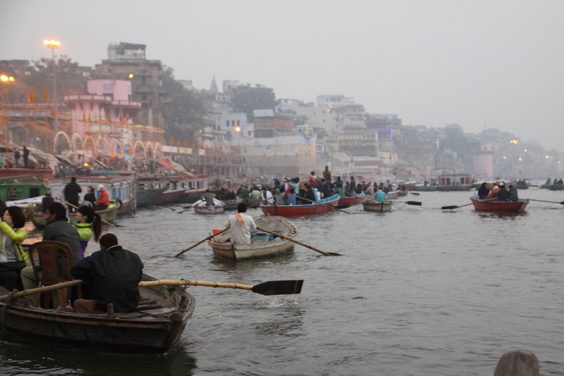 rowing on Ganges