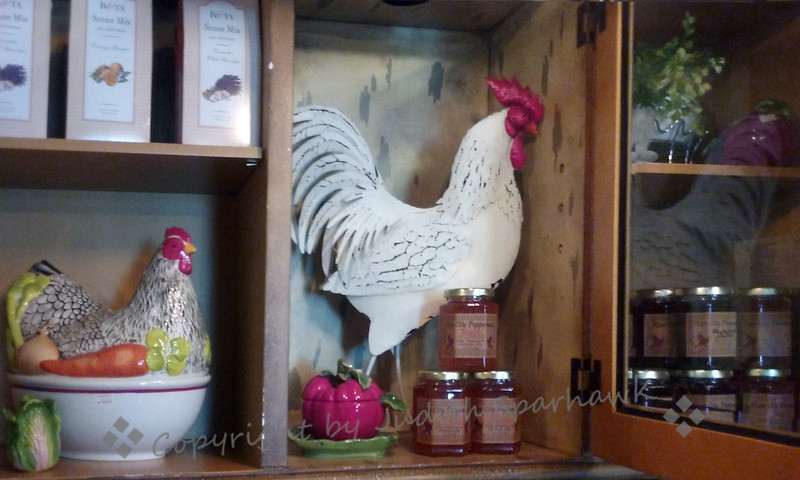 Rooster in the Cupboard