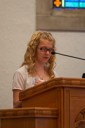 2013 Rebekah's 8th Grade Graduation