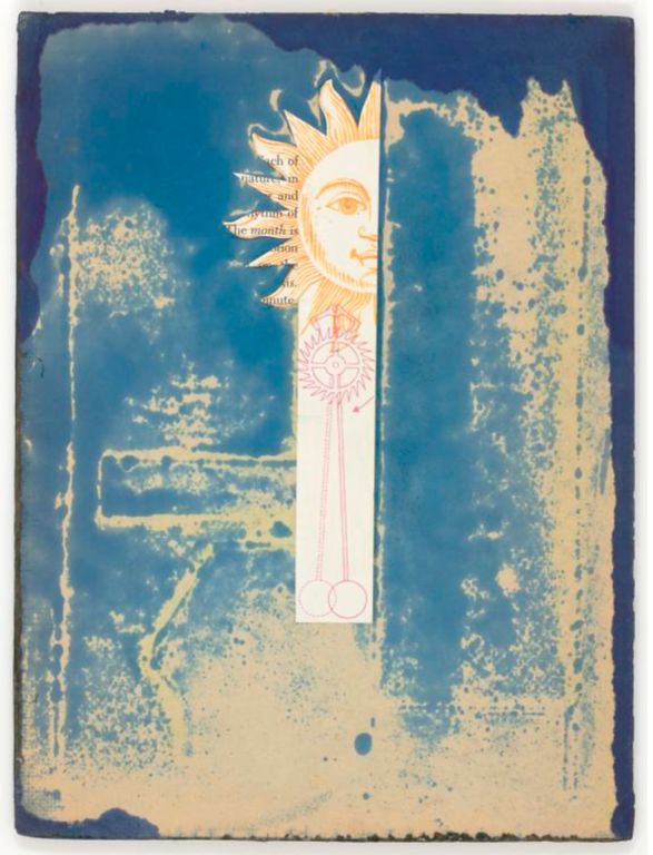 "Joseph Cornell, ""Untitled (sun face and pendulum)"", n.d."