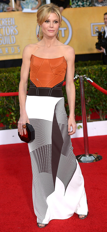 . Julie Bowen arrives at the 20th Annual Screen Actors Guild Awards  at the Shrine Auditorium in Los Angeles, California on Saturday January 18, 2014 (Photo by Michael Owen Baker / Los Angeles Daily News)