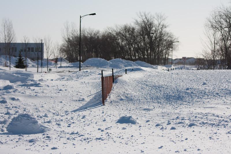 Snow fence - ha!