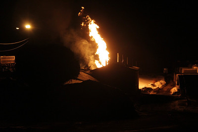 Propane Fire, Koch's Turkey Fire, Walker Township (2-20-2014)