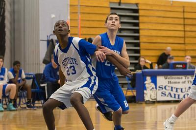 2/11/18 8A Boys Basketball:  Braintree vs Scituate