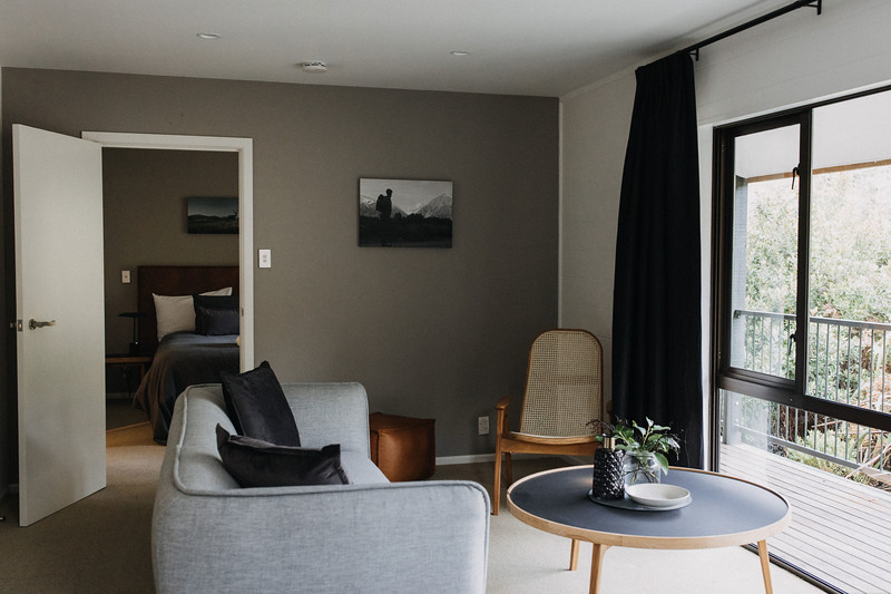 Master Villa Living opens to deck