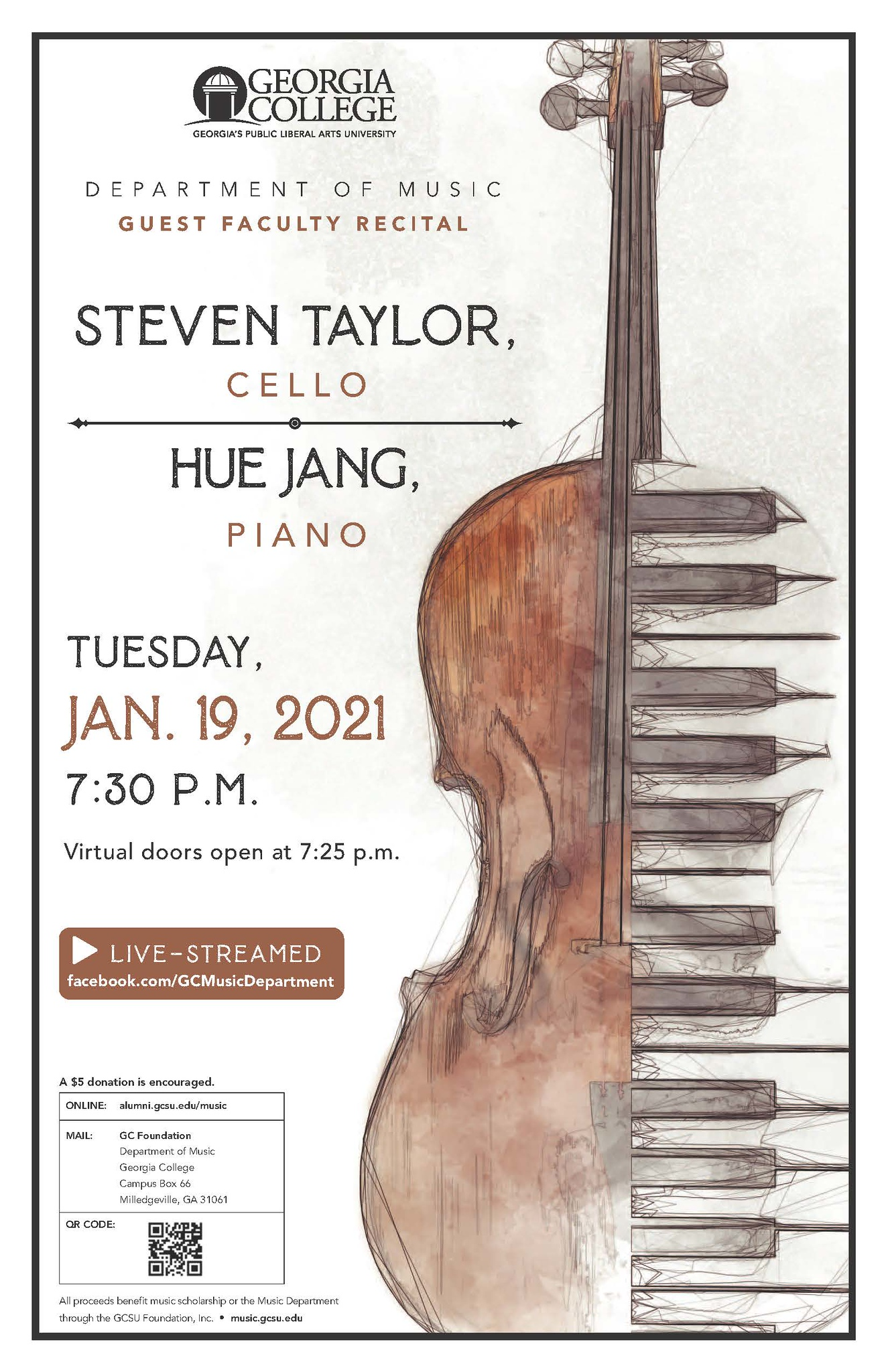 Please join us Tuesday, Jan. 19, for this recital.