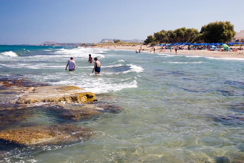 Vakantie Kreta. Strand bij Adele.