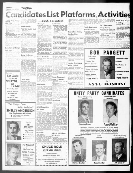 Daily Trojan, Vol. 40, No. 133, May 05, 1949