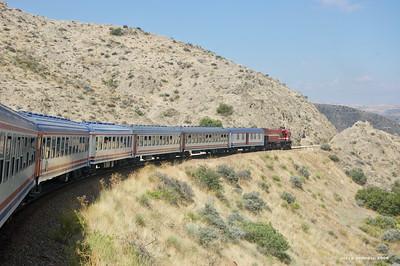 the Doğu Express between Kayseri and Ankara, 2009